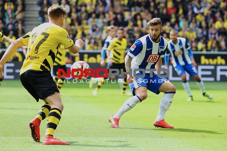 09.05.2015, Signal Iduna Park, Dortmund, GER, im Bild Marvin Plattenhardt ( Hertha BSC Berlin #21)<br /> <br /> Foto &copy; nordphoto / Rauch