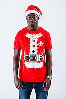 Wednesday 02 November 2016<br /> Pictured: Modou Barrow<br /> Re: Swansea City Christmas Photo shoot, Liberty Stadium, Wales, UK