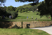 Cormac Sharvin (NIR) on the 5th green during Round 1 of the Challenge Tour Grand Final 2019 at Club de Golf Alcanada, Port d'Alcúdia, Mallorca, Spain on Thursday 7th November 2019.<br /> Picture:  Thos Caffrey / Golffile<br /> <br /> All photo usage must carry mandatory copyright credit (© Golffile | Thos Caffrey)