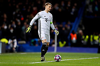 25th February 2020; Stamford Bridge, London, England; UEFA Champions League Football, Chelsea versus Bayern Munich; Goalkeeper Manuel Neuer of Bayern Munich brings the ball foreard before distributing back into play