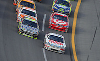 Oct 5, 2008; Talladega, AL, USA; NASCAR Sprint Cup Series driver David Ragan (6) leads Jimmie Johnson (48) during the Amp Energy 500 at the Talladega Superspeedway. Mandatory Credit: Mark J. Rebilas-