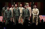 """Cast During the Broadway Opening Night Curtain Call Bows for The Roundabout Theatre Company's """"A Soldier's Play""""  at the American Airlines Theatre on January 21, 2020 in New York City."""