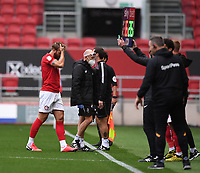 8th July 2020; Ashton Gate Stadium, Bristol, England; English Football League Championship Football, Bristol City versus Hull City; Nathan Baker of Bristol City is substituted after a clash of heads