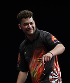 10th January 2018, Brisbane Royal International Convention Centre, Brisbane, Australia; Pro Darts Showdown Series; Tahuna Irwin (NZ) celbrates winning a leg during his match against Kyle Anderson(AUS)