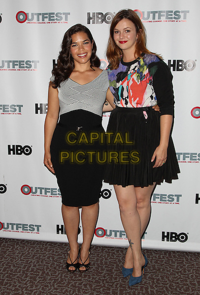 12 July 2014 - Los Angeles, California - America Ferrera, Amber Tamblyn. 2014 Outfest Los Angeles screening of 'X/Y' Held at The DGA Theater.  <br /> CAP/ADM/FS<br /> &copy;Faye Sadou/AdMedia/Capital Pictures