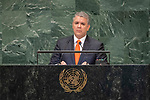 DSG meeting<br /> <br /> AM Plenary General DebateHis<br /> <br /> <br />  His Excellency Iván Duque Márquez, President, Republic of Colombia