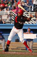 Batavia Muckdogs first baseman David Medina #44 during a game against the Auburn Doubledays at Dwyer Stadium on June 17, 2011 in Batavia, New York.  Auburn defeated Batavia in the season opener 6-1.  (Mike Janes/Four Seam Images)