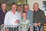 CARDS: Marking their cards at the Kingdom Greyhound Stadium Tralee on Friday evening l-r: John Ward (Tralee), John and Brendan Reidy (Ballyheigue), Billy and Vincent McKenna (Abbeydorney) and Pat McKenna (Lixnaw)..
