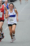 Emelia Dan from Dunboyne AC was the third lady home in the Dunleer 4 mile run. Photo: Colin Bell/pressphotos.ie
