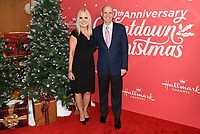 "20 November 2019 - Hollywood, California - Michelle Vicary, Bill Abbott. Hallmark Channel's 10th Anniversary Countdown to Christmas - ""Christmas Under the Stars"" Screening and Party. Photo Credit: Billy Bennight/AdMedia"