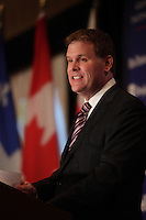 September 14, 2012 - Montreal, Quebec , CANADA - John Baird, Canada's Foreign Affairs Ministers adress the CORIM about ''Canadian values in a changing world''.<br /> <br /> FRENCH CAPTION BELOW :<br /> L'honorable John Baird,<br /> Ministre des Affaires etrangeres du Canada prononce un allocation intitulee '' Affirmer les valeurs canadiennes<br /> dans un monde en changement'' devant le CORIM, a Montreal, le 14 septembre 2012.