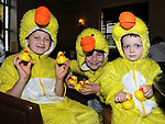 Jack and Owen Bohill and Steven Reid pictured at the Termonfeckin Celtic duck race. Photo: Colin Bell/pressphotos.ie