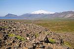 View of Snaefellsjokull Glacier on Snaefellsnes Peninsula in West Iceland