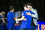 League LNFS.<br /> Penjada de samarreta de Paco Sedano al Palu Blau Grana.