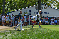 Tyrell Hatton (ENG) heads down 9 during 3rd round of the 100th PGA Championship at Bellerive Country Club, St. Louis, Missouri. 8/11/2018.<br /> Picture: Golffile | Ken Murray<br /> <br /> All photo usage must carry mandatory copyright credit (&copy; Golffile | Ken Murray)