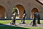 Rodin statues at Stanford University outside of San Francisco, California