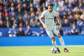 9th September 2017, King Power Stadium, Leicester, England; EPL Premier League Football, Leicester City versus Chelsea; Cesc Fŕbregas of Chelsea works the ball out of midfield