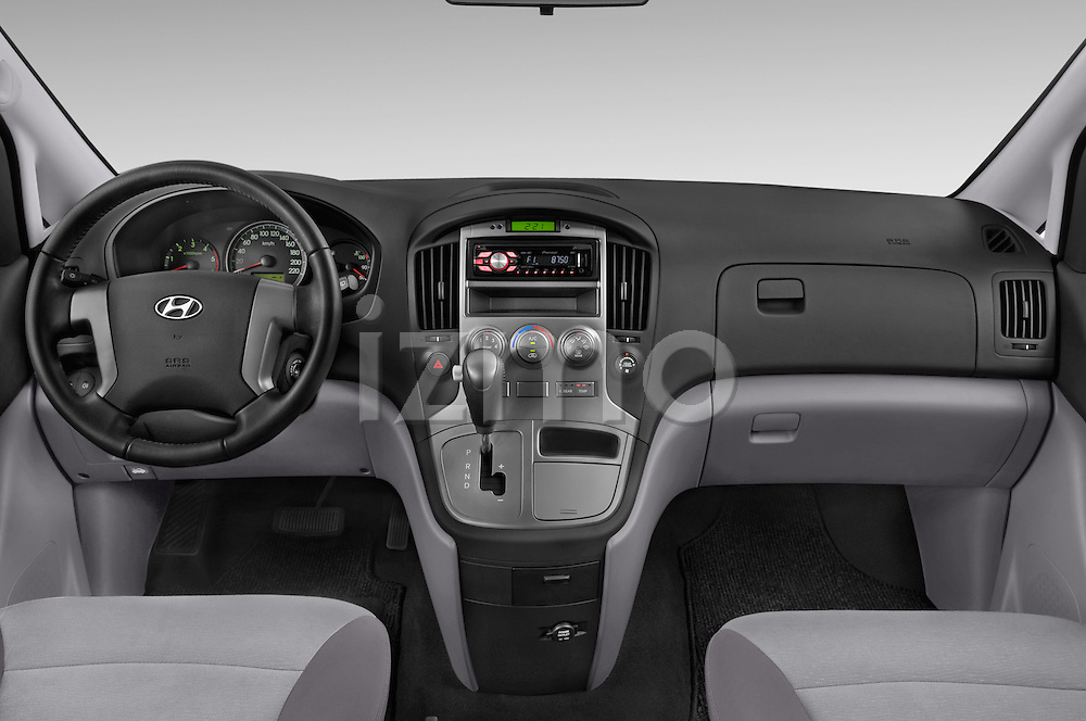 Stock photo of straight dashboard view of a 2015 Hyundai H-1 People Executive 5 Door Passenger Van Dashboard
