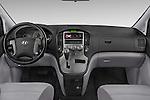 Stock photo of straight dashboard view of a 2015 Hyundai H-1 People Executive 5 Door Passenger Van Dashboard