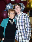 Aaron Reay celebrating his 21st birthday in the thatch with grandmother Melda McDonnell. Photo:Colin Bell/pressphotos.ie