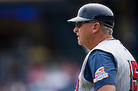 Toledo Mudhens manager Larry Parrish #15 at Harbor Park June 7, 2009 in Norfolk, Virginia. (Photo by Brian Westerholt / Four Seam Images)