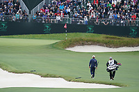 Tyrrell Hatton (ENG) on the 18th fairway during the 3rd round of the US Open Championship, Pebel Beach Golf Links, Monterrey, Calafornia, USA. 15/06/2019.<br /> Picture Fran Caffrey / Golffile.ie<br /> <br /> All photo usage must carry mandatory copyright credit (© Golffile | Fran Caffrey)