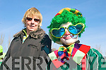 CLOWN: Mary Sheahan (Castlemaine) and Jamie Ashe (Killorglin) acting the clown at the St Patrick's Day Parade in Milltown.