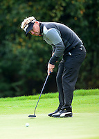 Soren Kjeldsen of Denmark putts during Round 4 of the 2015 British Masters at the Marquess Course, Woburn, in Bedfordshire, England on 11/10/15.<br /> Picture: Richard Martin-Roberts | Golffile