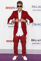 "LOS ANGELES, CA - DECEMBER 18: Singer Justin Bieber arrives at the World Premiere Of Open Road Films' ""Justin Bieber's Believe"" held at Regal Cinemas L.A. Live on December 18, 2013 in Los Angeles, California. (Photo by Xavier Collin/Celebrity Monitor)"