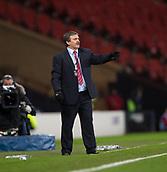 23rd March 2018, Hampden Park, Glasgow, Scotland; International Football Friendly, Scotland versus Costa Rica; Costa Rica coach Oscar Ramírez