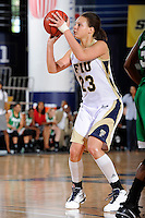 6 February 2010:  FIU's Finda Mansare (23) shoots in the second half as the FIU Golden Panthers defeated the North Texas Mean Green, 72-55, at the U.S. Century Bank Arena in Miami, Florida.