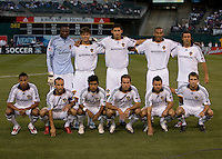 18 April 2009: Los Angeles Galaxy Starting XI pose for group photo before the game against the Earthquakes at Oakland-Alameda County Coliseum in Oakland, California.   Earthquakes and Galaxy are tied 1-1.
