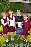 Students from St Josephs NS at their book launch last week were l-r; Laura O'Connor, Ellen Murphy, Mary Daly(Grandparent) & Aoibhe O'Connor.....Ref Sinead for story e-mail sent with more info.