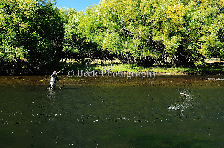 Fly fishing on the Rio Malleo in Patagonia