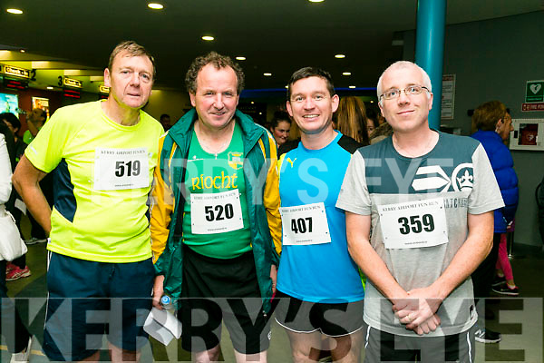 Liam Bell, Fred Browne, Francie Brosnan, colm Nix at the Kerry Airport Runway 5k Fun Run 7th October in aid of Cystic Fibrosis supported by The Rugby clubs of West Munster sponsored by Garveys Supervalu Group