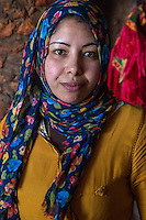 Morocco.  Young Berber Woman.