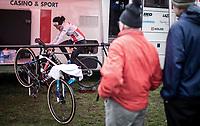 Ceylin Del Carmen Alvarado (NED/Corendon-Circus) warming up<br /> <br /> CX Superprestige Zonhoven (BEL) 2019<br /> women's race