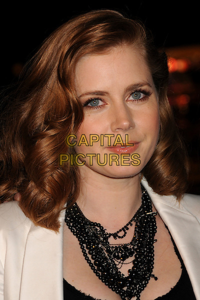 "AMY ADAMS .""Sunshine Cleaning"" Los Angeles Premiere held at Pacific Theaters at The Grove, Los Angeles, CA, USA, .09 March 2009..portrait headshot black necklace wavy hair beads.CAP/ADM/BP.©Byron Purvis/Admedia/Capital PIctures"