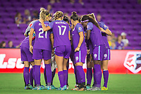 Orlando, FL - Thursday September 07, 2017: Orlando Pride  during a regular season National Women's Soccer League (NWSL) match between the Orlando Pride and the Seattle Reign FC at Orlando City Stadium.