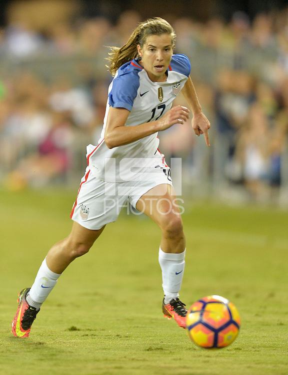 San Jose, CA - November 10, 2016: The U.S. Women's National team go up 7-1 over Romania during an international friendly game at Avaya Stadium.