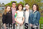 Fiona O'Brien, principal Killarney Community College, pictured with Daria Sitnik, Gavin Brosnan, Esidor Pashaj and Chlioe Enright at the Killarney Community College Awards night at the school on Wednesday night.