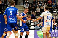 GRONINGEN - Volleybal, Abiant Lycurgus - Inter Rijswijk, Alfa College , Eredivisie , seizoen 2017-2018, 21-10-2017 /l18 viert een punt
