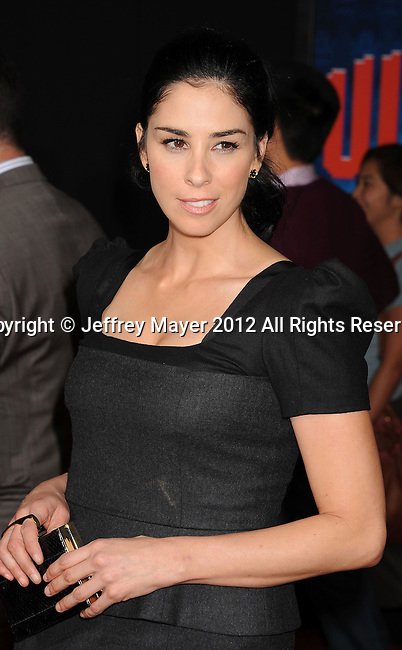 HOLLYWOOD, CA - OCTOBER 29: Sarah Silverman arrives at the Los Angeles premiere of 'Wreck-It Ralph' at the El Capitan Theatre on October 29, 2012 in Hollywood, California.