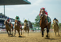 ELMONT, NY - JUNE 10: Songbird #5 with Mike Smith wins the Ogden Phipps Staes at Belmont Park on June 10, 2017 in Elmont, New York. (Photo by Alex Evers/Eclipse Sportswire/Getty Images)