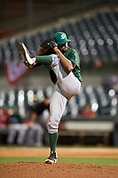 Daytona Tortugas relief pitcher Geoff Broussard (20) delivers a pitch during a game against the Florida Fire Frogs on April 6, 2017 at Osceola County Stadium in Kissimmee, Florida.  Daytona defeated Florida 3-1.  (Mike Janes/Four Seam Images)