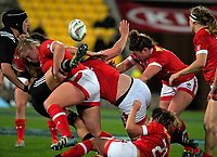 Action from the 2017 International Women's Rugby Series rugby match between the NZ Black Ferns and Canada at Westpac Stadium in Wellington, New Zealand on Friday, 9 June 2017. Photo: Dave Lintott / lintottphoto.co.nz