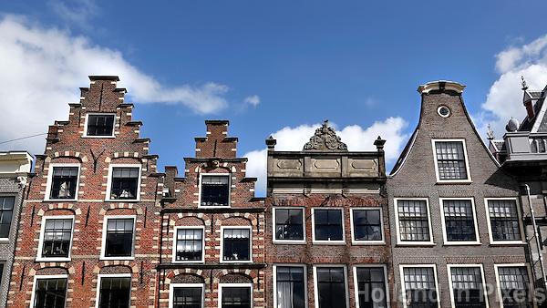 Historische panden in Haarlem.