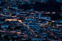 Diamantina_MG, Brasil...Vista panoramica da cidade de Diamantina ao anoitecer...The panoramic view of Diamantina at nightfall..Foto: LEO DRUMOND /  NITRO