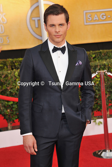 James Marsden  arriving at the 20th SAG Awards 2014 at the Shrine Auditorium in Los Angeles.