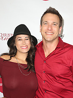"""LOS ANGELES, CA - NOVEMBER 7: Virginia Novello, Adam Mayfield, at Premiere of Lifetime's """"Christmas Harmony"""" at Harmony Gold Theatre in Los Angeles, California on November 7, 2018. Credit: Faye Sadou/MediaPunch"""